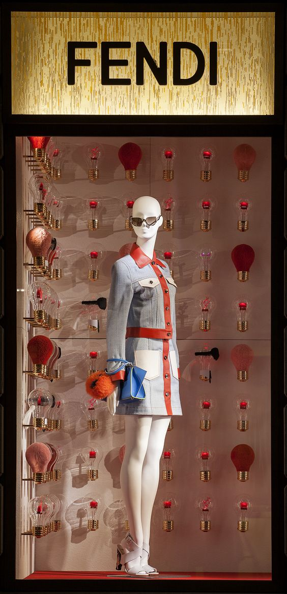 The Fendi ID-ea capsule collection merchandise design display created for the boutique in Milan.