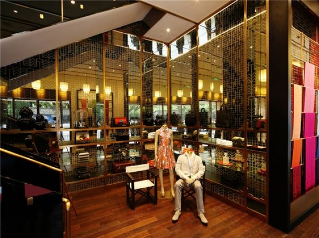 Photo from the interior of the Shanghai Tang Cathay Mansion flagship store by Design MVW. Shanghai fashion inspiration.