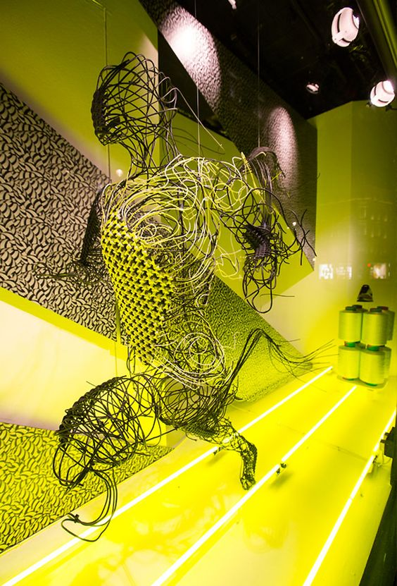 Visual merchandising set for Nike X Liberty by Hotel Creatives, seen in London.