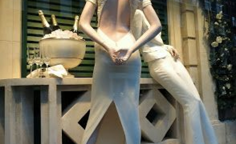 Mannequins imitating real life actions was the idea behind this display by Ralph Lauren, in London.