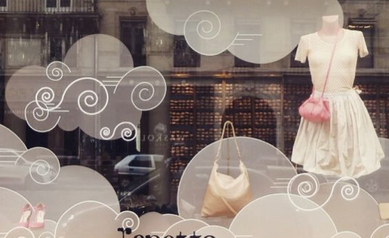 """Not all clouds are the same"" theme for a window display by Repetto in Paris, France."