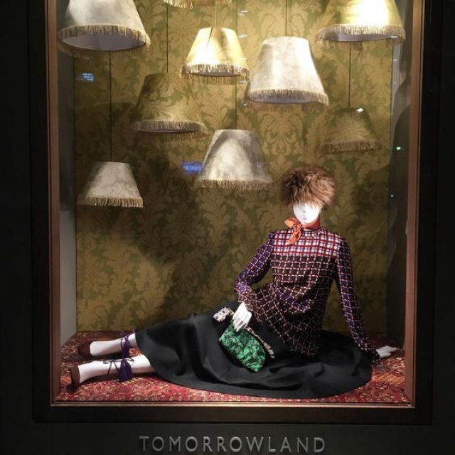 Window display inspired by the Persian maison for the Tomorrowland store in Shibuya, Tokyo, Japan.