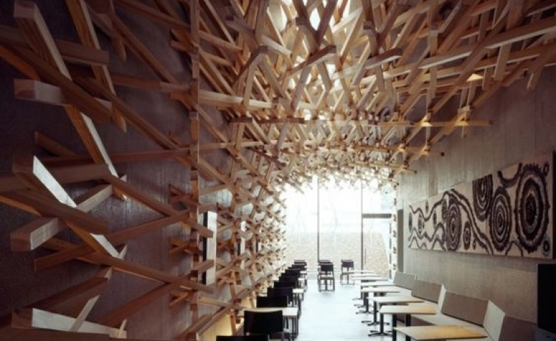 Amazing decoration used to make this Starbucks in Japan truly unique.