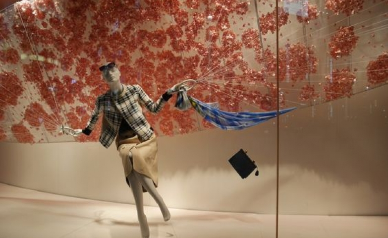 Inspiration from the kooky design of the visual merchandise window for Wako, in Tokyo.
