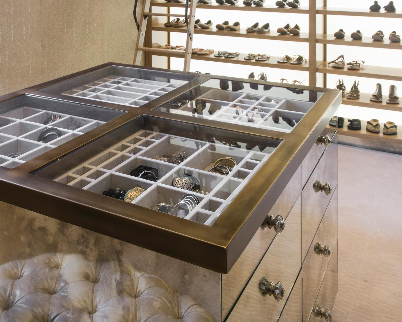 Jewelry organizing and storage furniture piece by Angelica Henry Design with Passion 2 Story and Gentleman Closet.