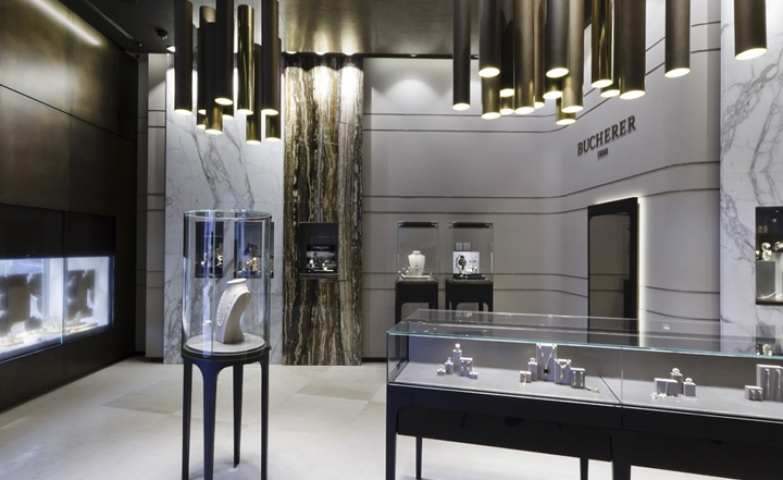 The stunning interior of the Bucherer store by Blocher Blocher Partners, St.Moritz Switzerland.