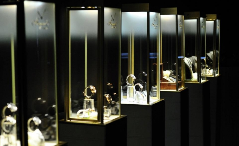 Breguet Hora Mundi watches at a high jewellery watch display in Russia