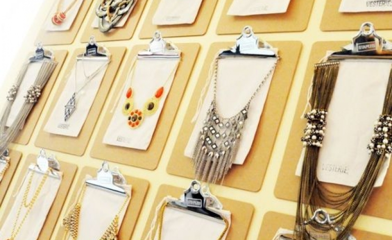 If you are looking for a creative way to display jewelry in your store these board hangers might just do the trick.