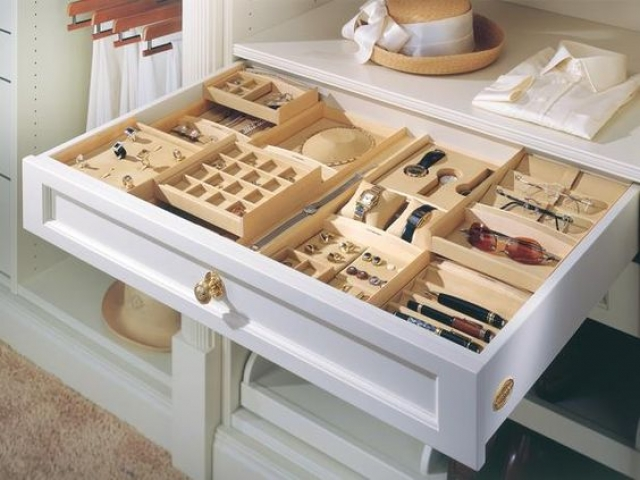 Cool idea for a customized storage drawer organizer in white color.