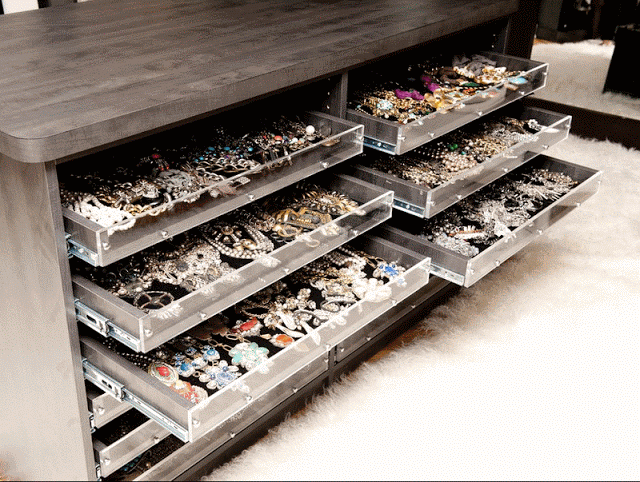These dressers for jewelry are perfect for home or store storage solutions.