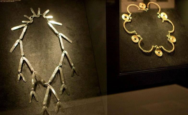 """Jewelry by us"" from artist Alexander Calder, exhibition at the Metropolitan Museum of Art in New York."
