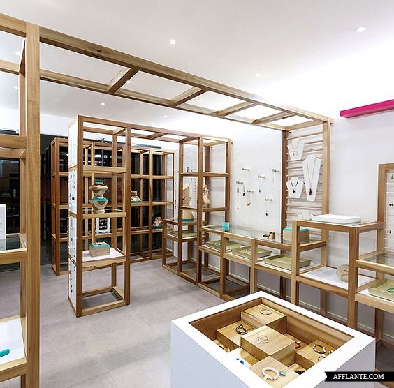 Savvy Studio designed a very unique store display for Mica Jewellery Shop.