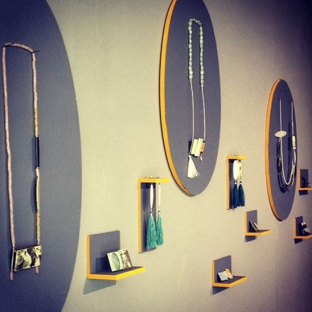 The amazing work display made for the degree project by Rebecca E Smith for the show at Duncan of Jordanstone in June 2014.