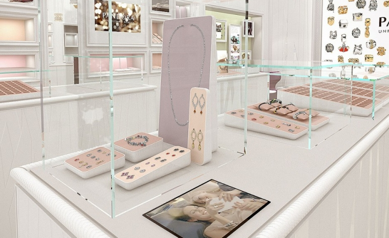 This Pandora store display concept is really chic and elegant at the same time.