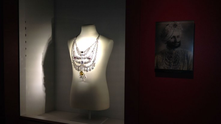 On display at the Denver Art Museum was this stunning necklace piece designed by Cartier for the Maharajah of Patiala in 1928.