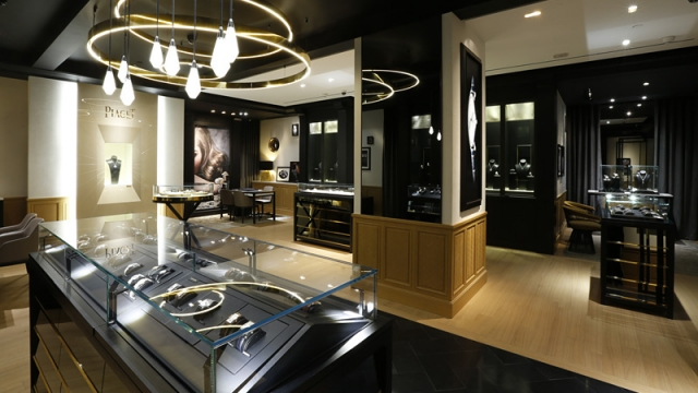 The Piaget Boutique in Suzou Tower is an example of fine luxury and elegance.