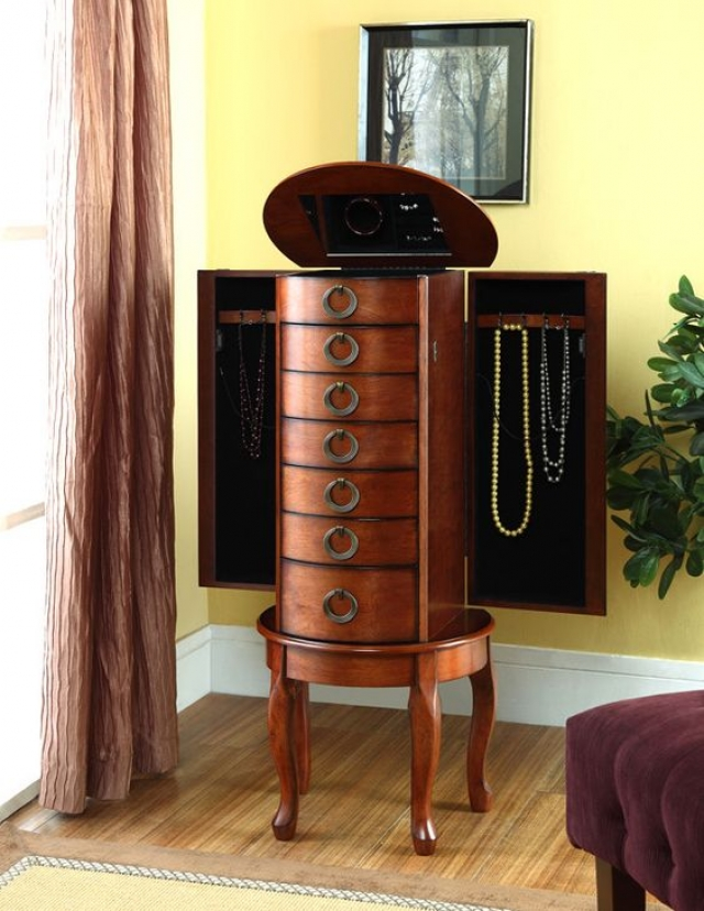 Another exquisite woodland cherry jewelry armoire from Powell to add elegance to your living room.