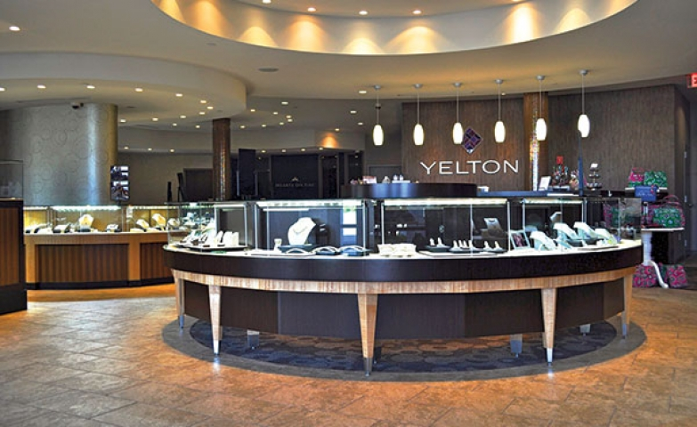 The entrance of Yelton Fine Jewelers store is absolutely mesmerizing and inspiring.