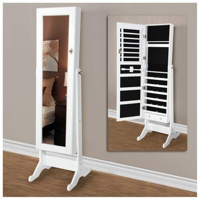 Wall mirror with jewelry storage space inside. Great for all kinds of jewelry.