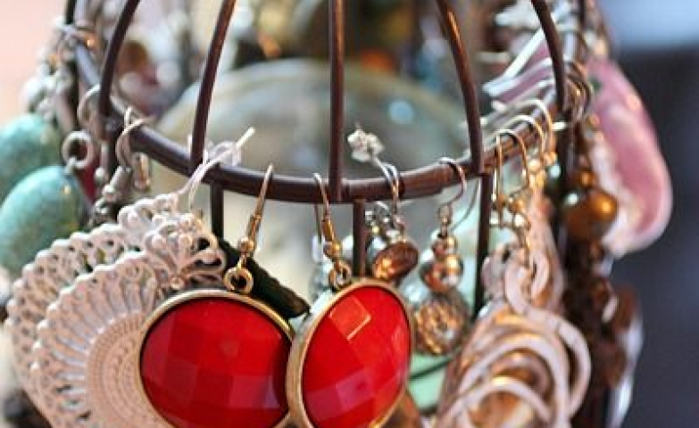 Even a small cage candle holder can be used to store and hang jewelry like earring for example.