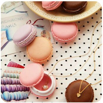 How cute is this macaron candy color storage box? Adorable and perfect for jewelry packaging, display, and a great pill case organizer.