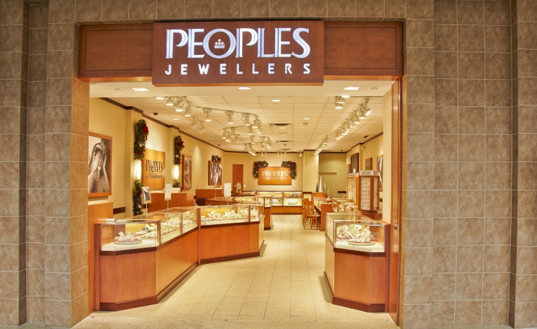 Peoples Jewellers ditched the exterior displays and the doors, and just made a wide inviting entrance. A great idea for attracting potential customers to go right inside.