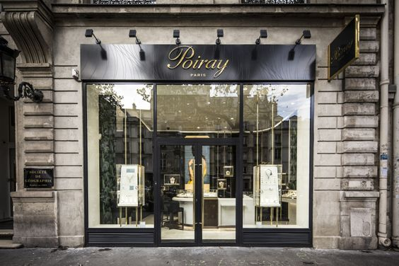 The Poiray store by Centdegrés in Paris France is very discrete, but the big see-through windows make it very appealing to enter and wander around it