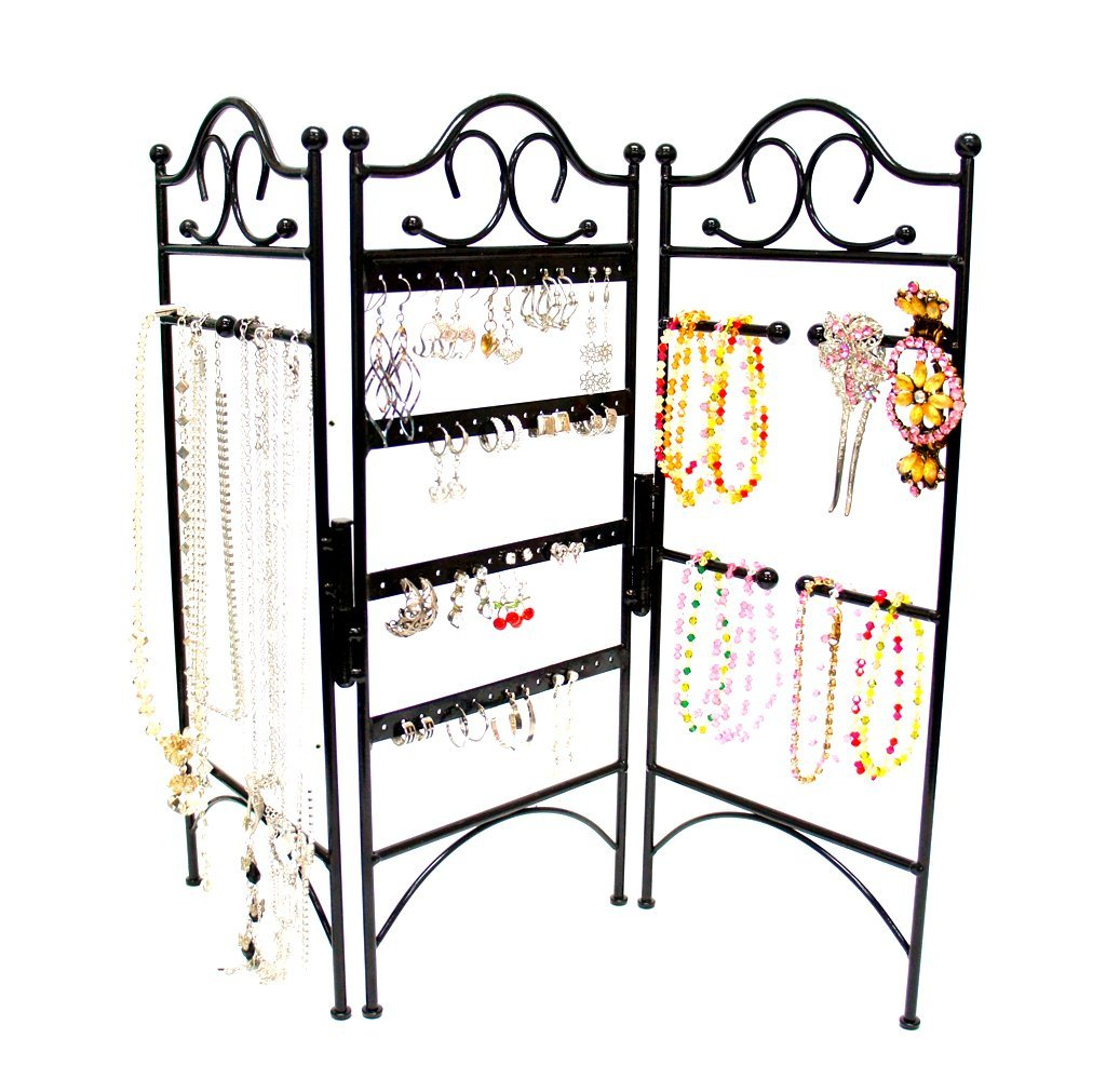 This 3-Panel organizer from Mango Steam is absolutely gorgeous and perfect for hanging different kinds of jewelry.