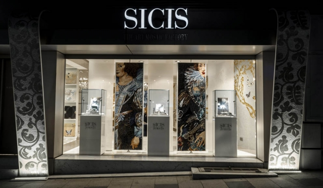 Combining art and modern architecture. This is the idea behind Sicis Jewels Showroom in Istanbul. The front view window just makes you wanna stop and stare.