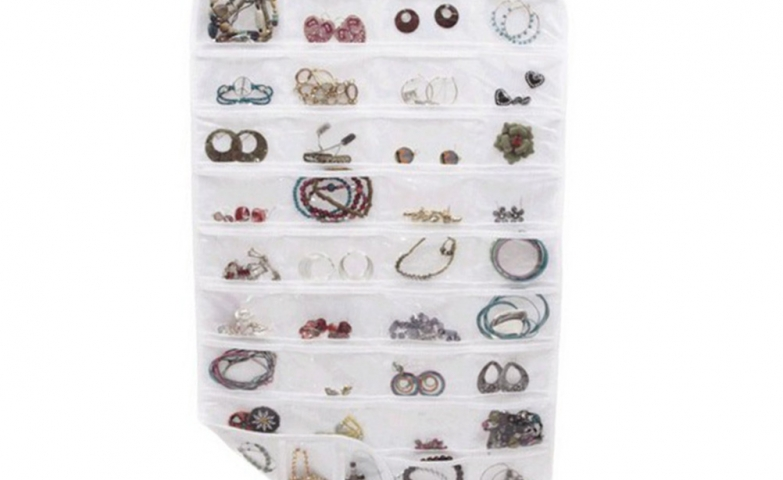 A pocket hanging jewelry organizer? Yes, why not? It's a great way and simple way to store all kinds of jewelry.