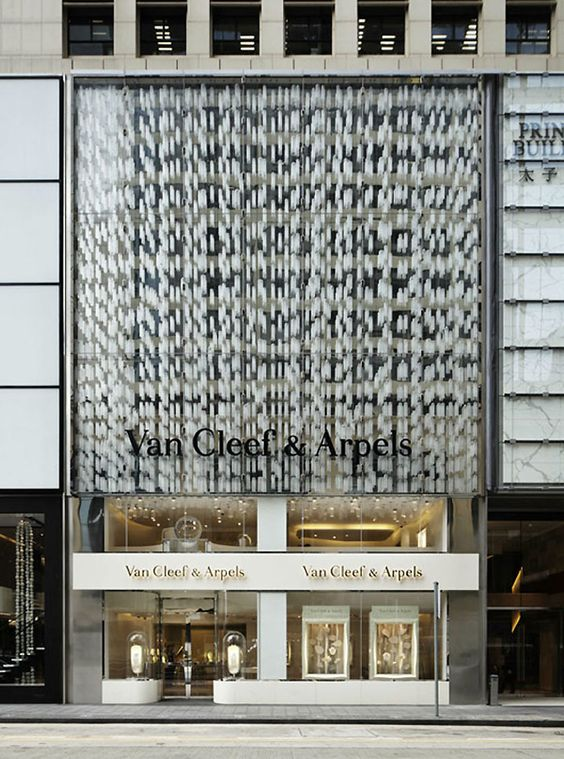 Van Cleef & Arpels Flagship Store by Jouin Manku, in Hong Kong inspiration for a store design with a modern elegant look.