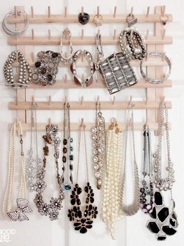 More stylish jewelry organizers ideas you can DIY with wooden materials, and use to store necklaces, bracelets and earrings.
