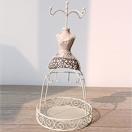 Handcrafted Rustic Wooden Dress Form Jewelry Display Stand