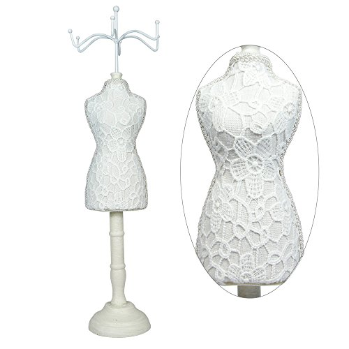 Fabric Covered Jewelry Display Dress Form Mini Mannequin By Ikee