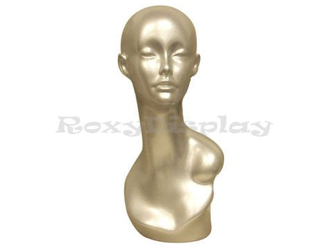 Necklace Earring Display Silver Female Mannequin Head