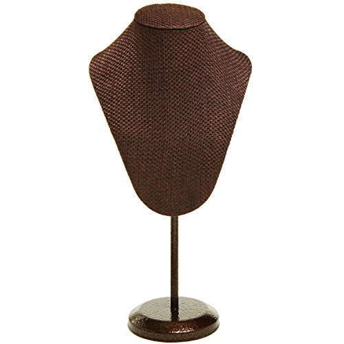 Fabric Exhibition Stand Here Alone : Vintage looking woven fabric necklace display mannequin
