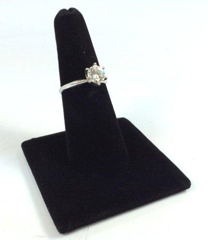 Bo Black Velvet Single Finger Ring Jewelry Display Stand Riser