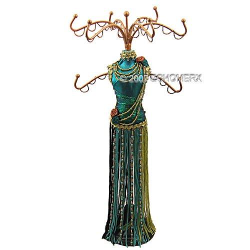 Blue Tassel Dress Form Mini Mannequin Jewelry Display Stand Zen