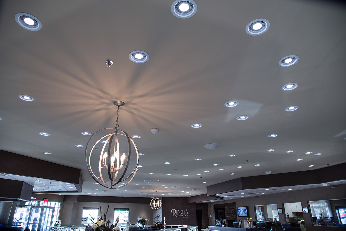 Creative jewelry display using a proper distribution of light zen ceiling lighting example for a jewelry store the specifics of retail lighting arubaitofo Choice Image