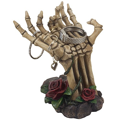 Gothic Skeleton Hand Shaped Jewelry Display Holder Stand Zen