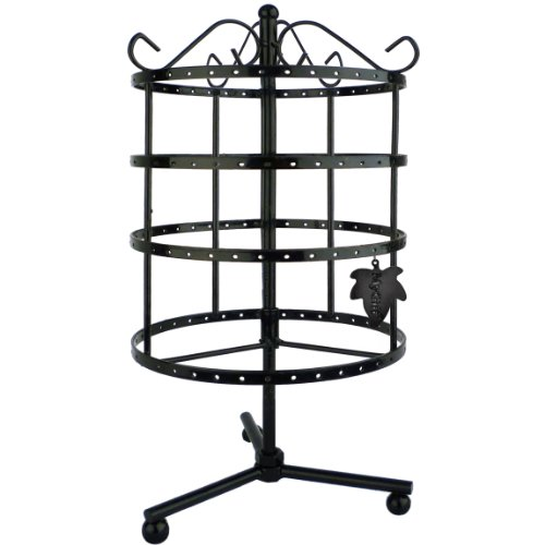 Exhibition Stand Organisers : Tiers rotating tabletop earring holder organizer