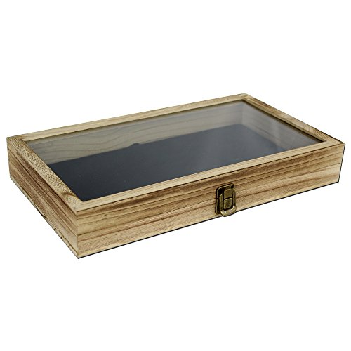 ... Storage Box With Tempered Glass Top Lid. ; 