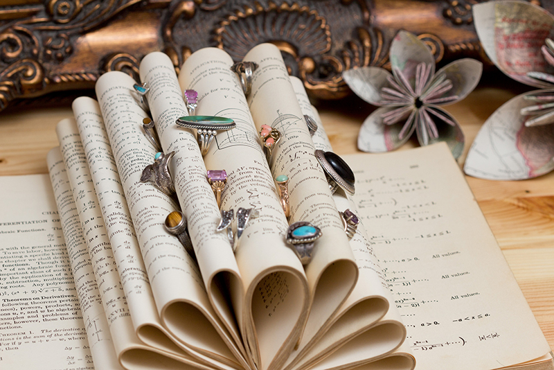Vintage Book Jewelry Display Idea & Props