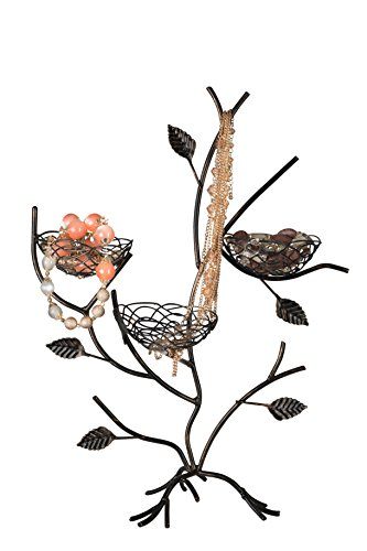 Bird Nest Shaped Jewelry Tree Organizer Jewelry Earring Rings