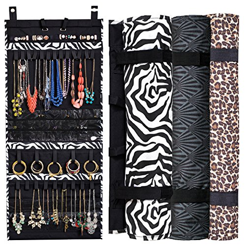 Hanging Jewelry Storage Organizer Jewelry Scroll Holds Over 150