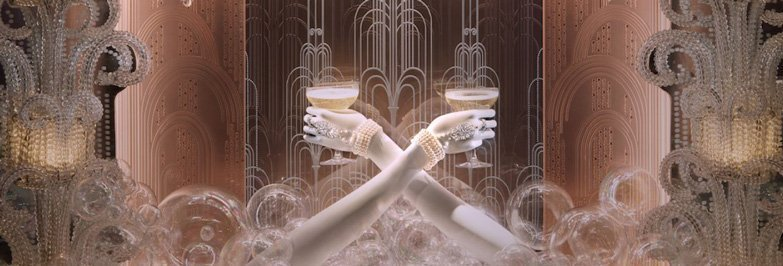 100 Jewelry Window Displays - Great Gatsby Themed Window Display