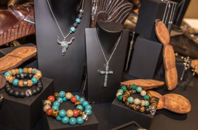 Another jewelry display by Thomas Sabo at the store in Zurich, theme revolving around African vibes.
