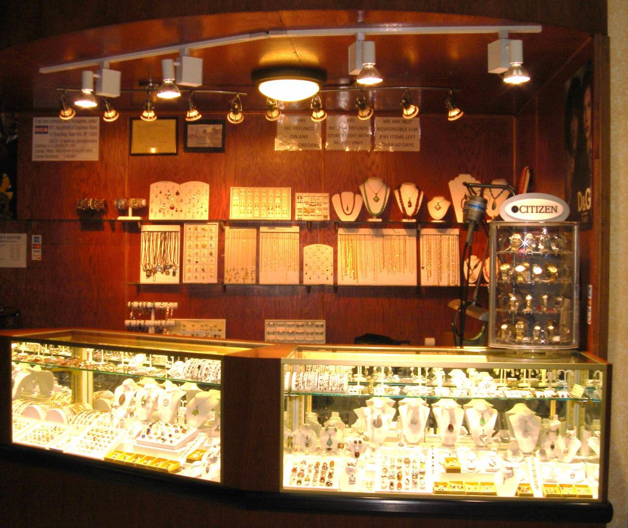 Inspiration for an abundant jewelry display showcase for pieces such as watches, necklaces, rings or bracelets, all together.