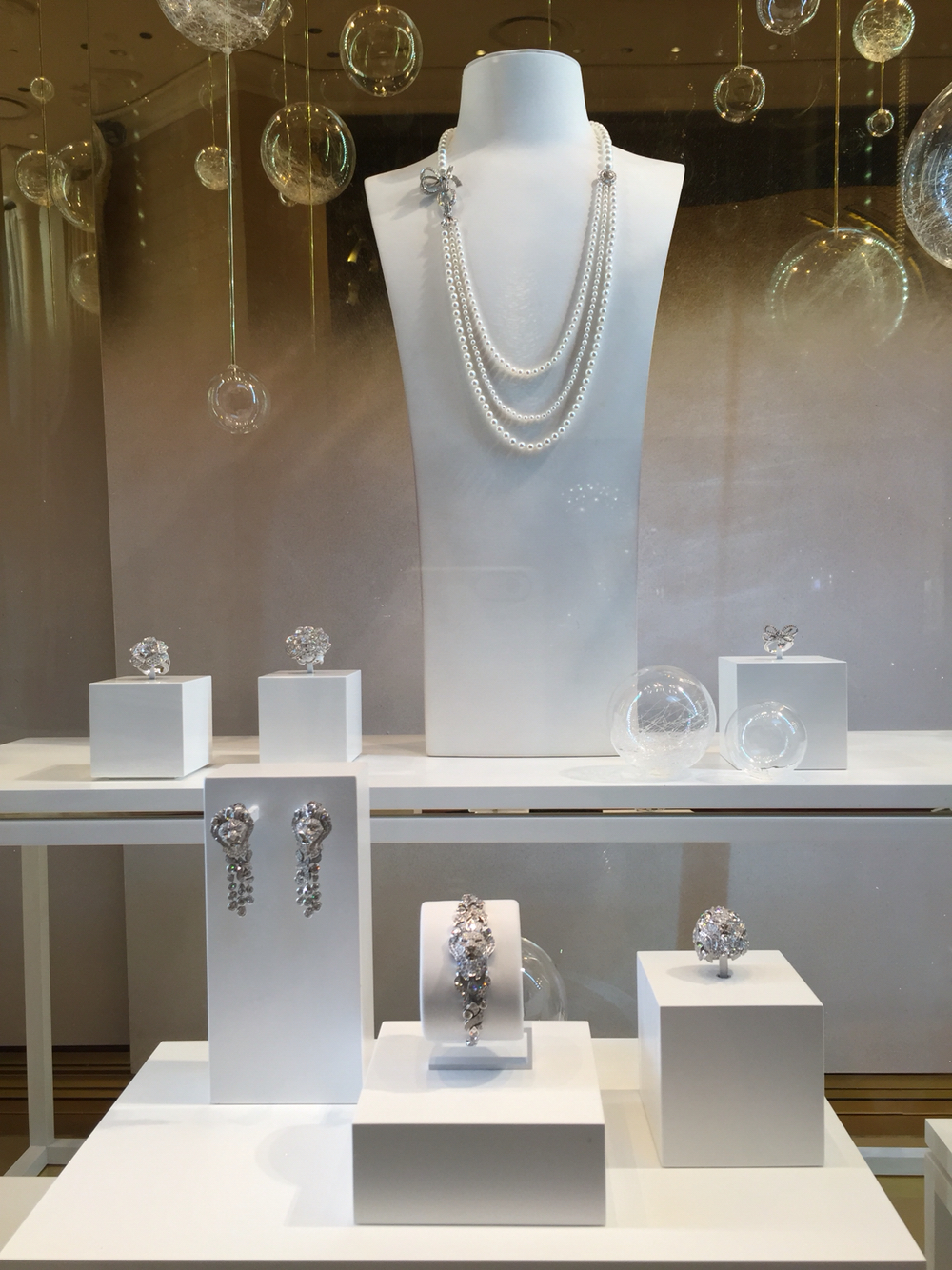 Another jewelry display setting for Chanel fine jewelry display at Encore Hotel in Las Vegas.