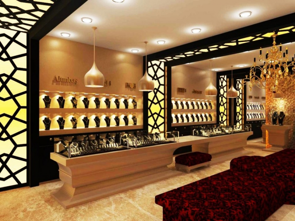 Such an amazing and elegant jewelry store decoration and interior design, unique inspiration for store display, store design.